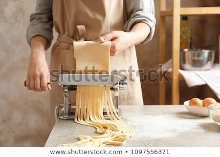 fraîches · pâtes · maison · machine · alimentaire - photo stock © ozgur