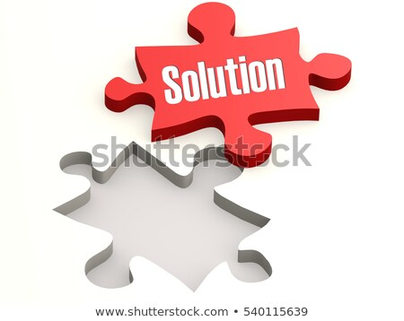 risk   white word on red puzzles stock photo © tashatuvango