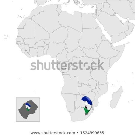 высокий подробный вектора карта Лесото навигация Сток-фото © tkacchuk