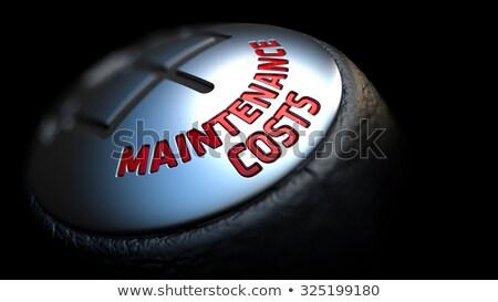 Stockfoto: Onderhoud · contract · versnelling · verschuiven · Rood · tekst