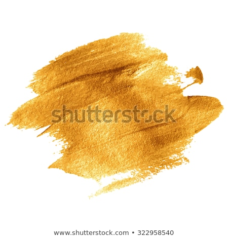 Gold acrylic paint vector banner Stock photo © gladiolus