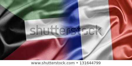 France and Kuwait Flags Stock photo © Istanbul2009
