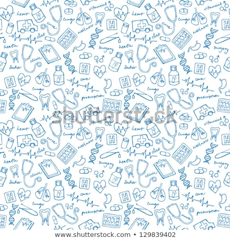 lungs doodle drawing, Medical background Stock photo © netkov1