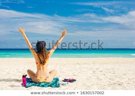 Fille maillot de bain illustration vecteur Photo stock © derocz