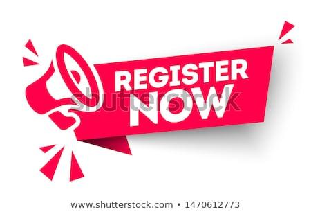 Register Now Red Vector Icon Design Stock photo © rizwanali3d
