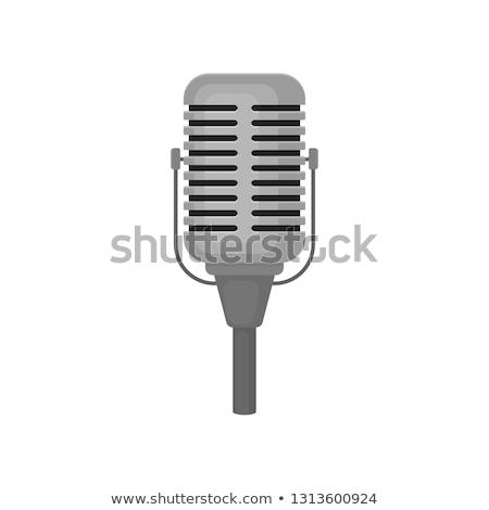 clássico · microfone · abstrato · fogo · concerto - foto stock © bigalbaloo