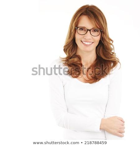 魅力的な 成熟した女性 白 肖像 幸せ ストックフォト © roboriginal
