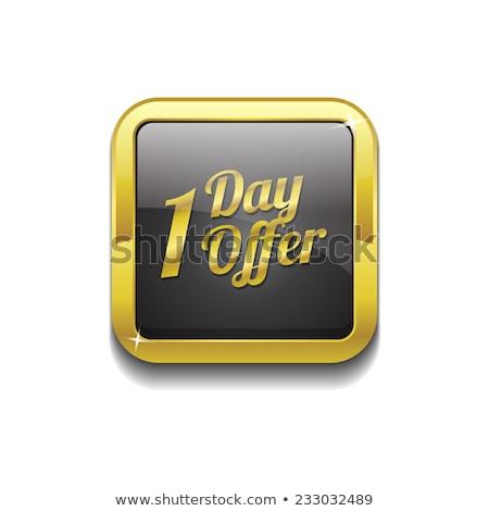 1 day Offer Golden Vector Icon Button Stock photo © rizwanali3d