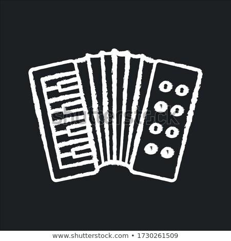 аккордеон икона мелом рисованной доске Сток-фото © RAStudio