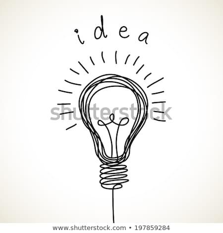 light bulb icon drawn in chalk stock photo © rastudio