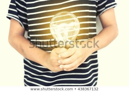 Kreatív megvilágosodás új ötletek feltaláló kéz Stock fotó © stevanovicigor
