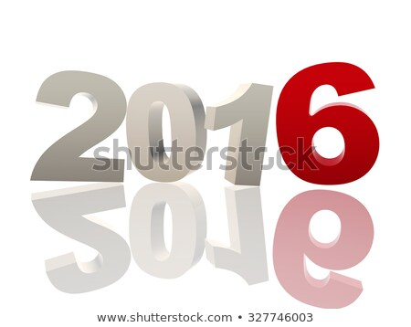 3d New Year 2016 In Red And Grey Figures Stockfoto © marinini