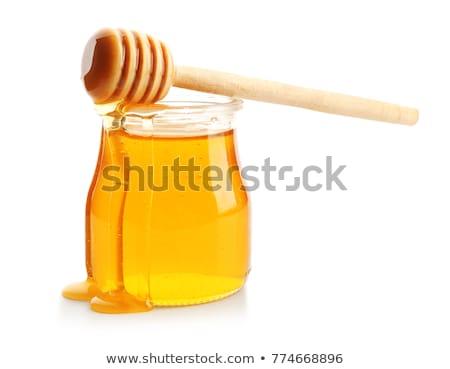Miele isolato jar piccolo a nido d'ape Foto d'archivio © jordanrusev