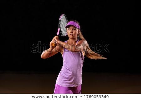 grunge · tenisz · teniszlabda · hely · fitnessz · egészség - stock fotó © bigalbaloo