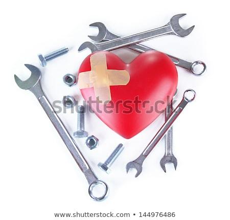 Coeur outils isolé blanche fond Photo stock © tetkoren
