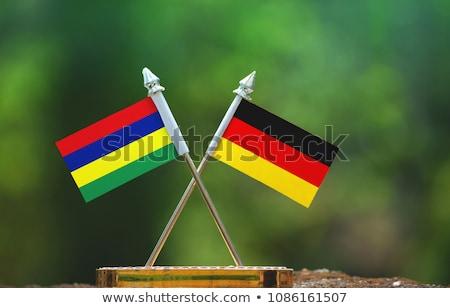 Германия Маврикий флагами головоломки изолированный белый Сток-фото © Istanbul2009