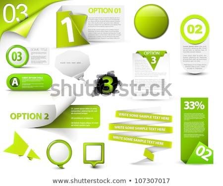 Opcja zielone wektora ikona projektu internetowych Zdjęcia stock © rizwanali3d