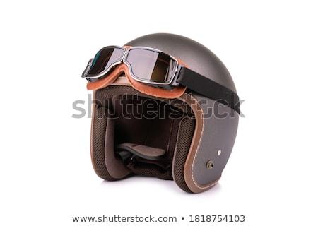 Motocicleta capacete isolado branco Foto stock © shutswis