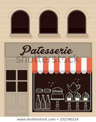 Store Rood flessen venster chic Stockfoto © x7vector