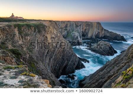 Portekiz Bina yaz okyanus kum renk Stok fotoğraf © compuinfoto