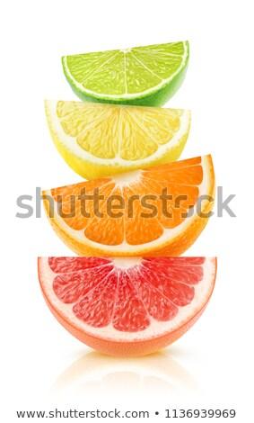 tropische · vruchten · Geel · creatieve · lay-out - stockfoto © zhekos