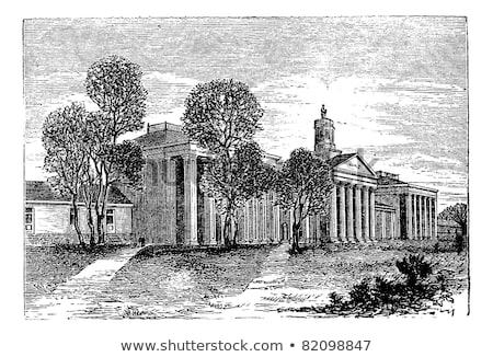 Washington egyetem Virginia Egyesült Államok klasszikus gravírozott Stock fotó © Morphart
