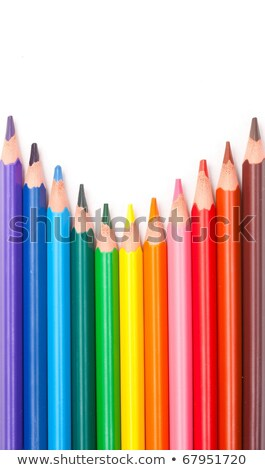 wood free resin triangular color pencils pointing up stock photo © grafvision