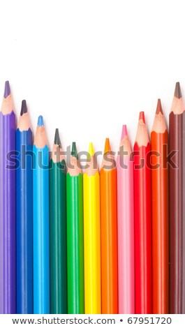 色 · 鉛筆 · 作業 · オレンジ · 楽しい · 赤 - ストックフォト © grafvision