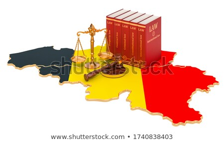 A gavel and a law book - Belgium Stock photo © Zerbor