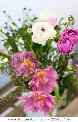 narciso · ramo · de · la · boda · dama · de · honor · vintage · vestido · flores - foto stock © escander81