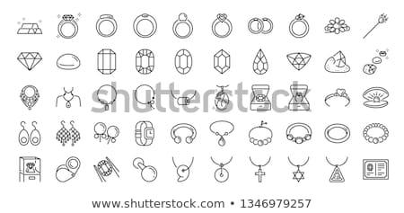 közelkép · platina · gyűrű · fém · ékszerek · ékszer - stock fotó © oleksandro