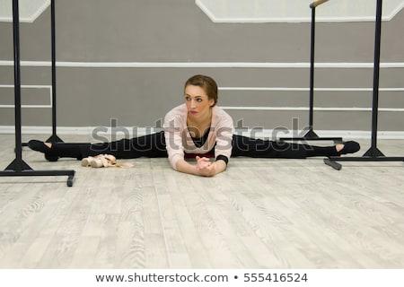 Woman resting in ballet class Stock photo © deandrobot