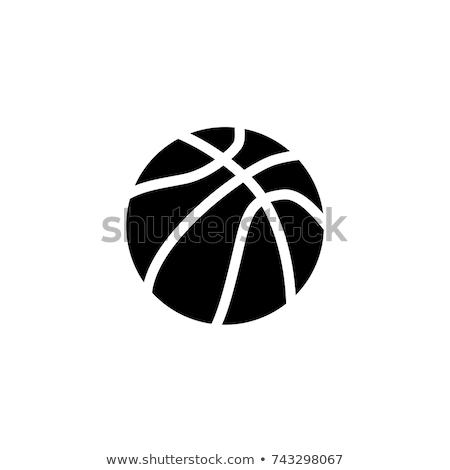 Kosárlabda ikon jókedv játék játék kosár Stock fotó © kiddaikiddee