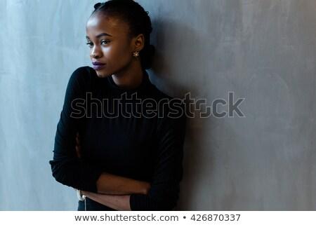 portret · poważny · przypadkowy · kobieta · młodych - zdjęcia stock © deandrobot