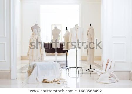 Salle d'exposition rose Homme rangée gris femme Photo stock © claudiodivizia