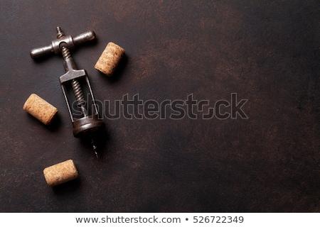 vintage corkscrew on stone stock photo © karandaev
