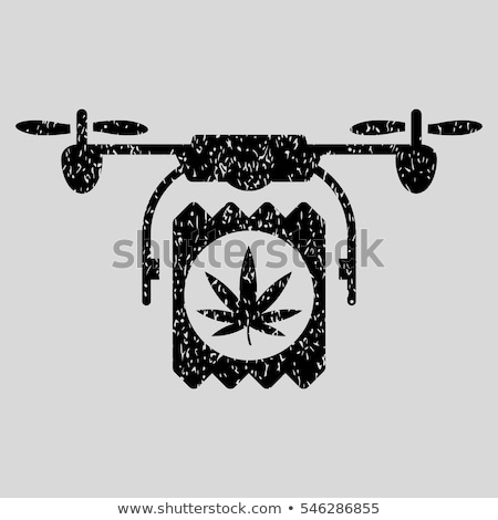 cannabis leaf grungy texture design stamps stock photo © zuzuan