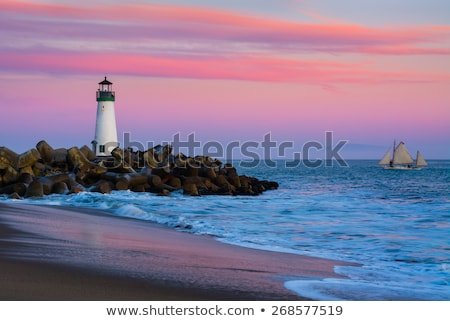 lighthouse walton on santa cruz shore stock photo © hanusst