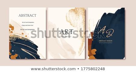 抽象的な 青 金 パンフレット 世界地図 ストックフォト © vipervxw