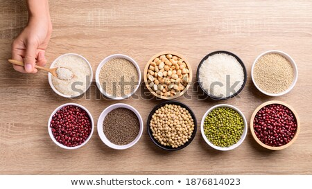 Handful of harvested soybeans, top view Stock photo © stevanovicigor
