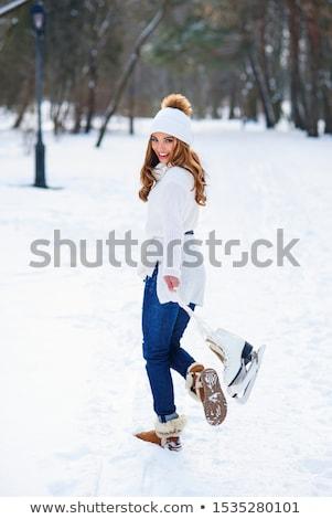 Beautiful Woman With Skates Stock photo © MilanMarkovic78