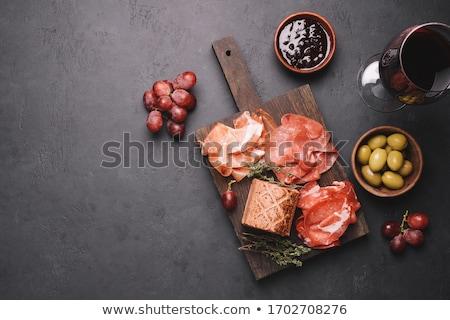 Vorspeise Fleisch Parmesan serviert Löffel Essen Stock foto © Klinker