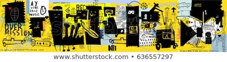 Hombre graffiti adulto hombre guapo posando aire libre Foto stock © Studiotrebuchet