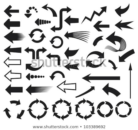 doodle recycle arrows icon stock photo © pakete