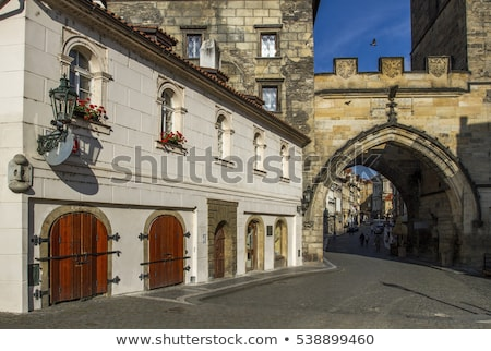 The Charles Bridge gateway Stock photo © LucVi