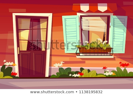 An open window with flowers outside Stock photo © bluering