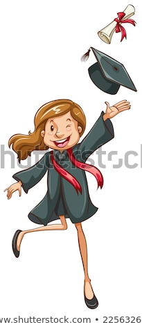 a plain drawing of a girl graduating stock photo © bluering