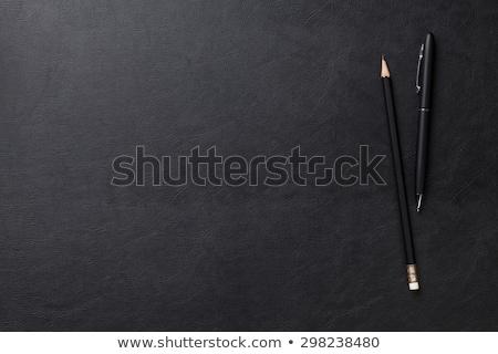 irodaszerek · fekete · asztal · kép · üzlet · iroda - stock fotó © karandaev