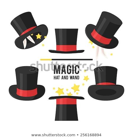 Ilustración mago sombrero funny estrellas azul Foto stock © adrenalina