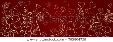 egyszerű · szív · keret · Valentin · nap · esküvő · terv - stock fotó © beholdereye